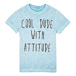 bluezoo - Boys' blue acid wash 'Cool dude' t-shirt
