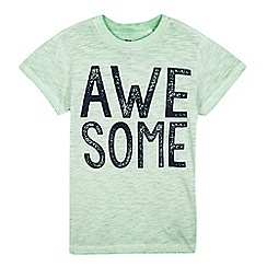 bluezoo - Boys' green acid wash 'awesome' t-shirt