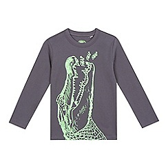 bluezoo - Boys' grey crocodile print t-shirt