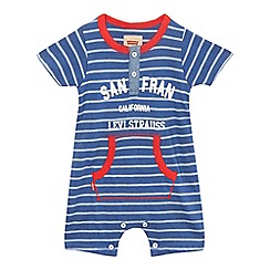 Levi's - Baby boys' 'Raymon' blue striped romper suit