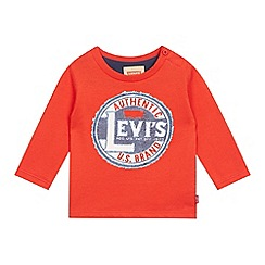 Levi's - Baby boys' red logo stamp print t-shirt