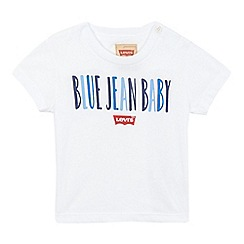 Levi's - Baby boys' white blue jean printed t-shirt