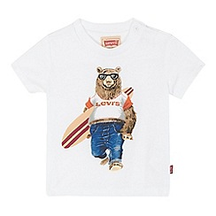 Levi's - Baby boys' white bear surf board printed t-shirt