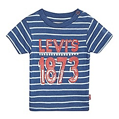 Levi's - Baby boys' blue striped print t-shirt