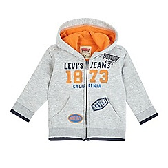 Levi's - Baby boys' grey print zip through hoodie