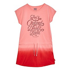 Levi's - Girls' pink logo print dress