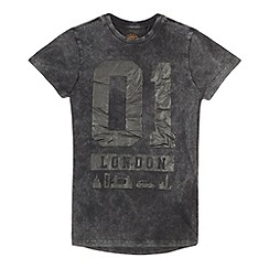 bluezoo - Boys' black longline t-shirt