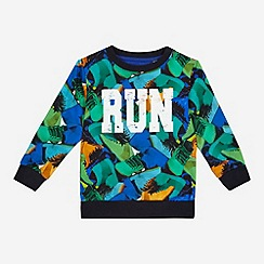 bluezoo - Boys' multi-coloured trainer 'Run' print jumper