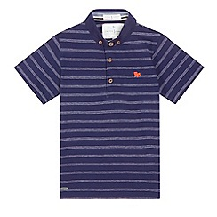 J by Jasper Conran - Boys' navy textured stripe polo shirt