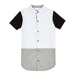 bluezoo - Boys' white button through polo shirt