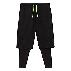 bluezoo - Boys' black sport leggings and shorts