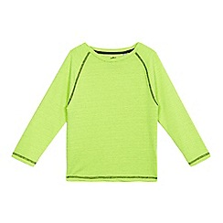 bluezoo - Boys' lime textured long sleeved top