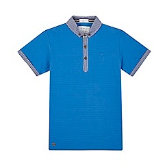 J by Jasper Conran - Boys' blue gingham checked print polo shirt
