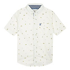 Penguin - Boys' off white tennis print shirt