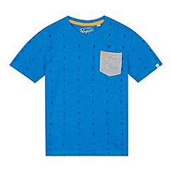 Penguin - Boys' blue cactus print t-shirt