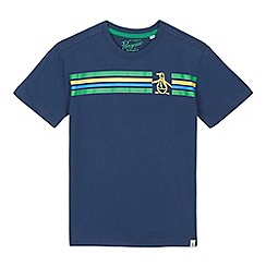 Penguin - Boys' dark blue striped print t-shirt