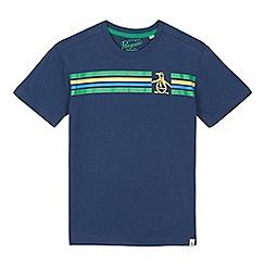 Penguin - Boys' dark blue striped print t-shirt