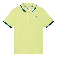 Penguin - Boys' lime embroidered penguin polo shirt