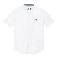 Penguin - Boys' white cotton shirt