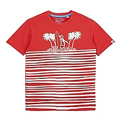 Penguin - Boys' red striped palm tree print t-shirt