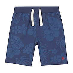 Penguin - Boys' navy hibiscus print shorts