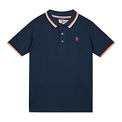 Penguin - Boys' navy contrasting tipping polo shirt