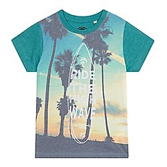 bluezoo - Boys' green palm tree print t-shirt