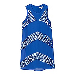 French connection - Girls' blue sequin striped dress