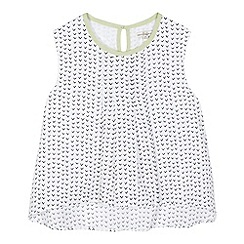 French connection - Girls' white V print vest