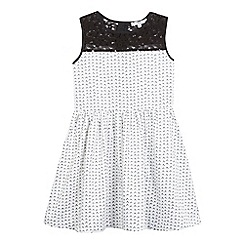 French connection - Girls' white V print dress