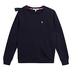 French connection - Girls' navy bow shoulder sweater