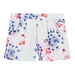 French connection - Girls' grey floral print shorts
