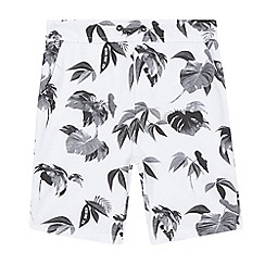 RJR.John Rocha - Boys' white hibiscus print sweat shorts