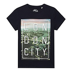 bluezoo - Boys' navy 'London' city t-shirt