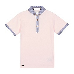 J by Jasper Conran - Boys' pink gingham trim polo shirt