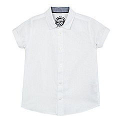 bluezoo - Boys' white linen blend shirt