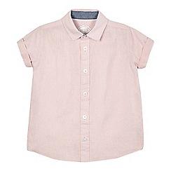 bluezoo - Boys' pink linen blend shirt