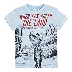 bluezoo - Boys' light blue 'T-Rex' print t-shirt