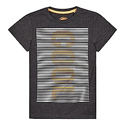 bluezoo - Boys' grey fine stripe 'cool' print t-shirt