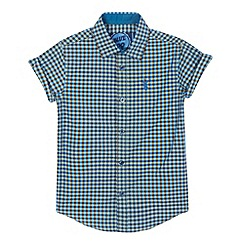 bluezoo - Boys' blue mini checked shirt