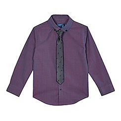 bluezoo - Boys' purple long sleeved shirt with a tie