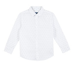 bluezoo - Boys' white long sleeved textured shirt