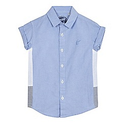 bluezoo - Boys' blue textured shirt