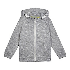 bluezoo - Boys' grey textured hoodie