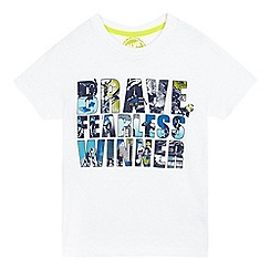 bluezoo - Boys' white 'brave fearless winner' print t-shirt