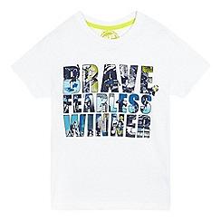 bluezoo - Boys' white 'brave fearless winner' print t-shirt
