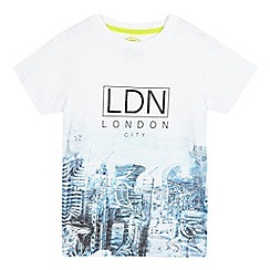 bluezoo - Boys' white 'London City' print t-shirt