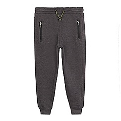 bluezoo - Boys' grey zip detail slim joggers