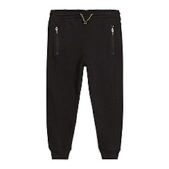 bluezoo - Boys' black zip detail slim joggers