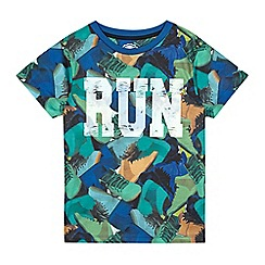bluezoo - Boys' multi-coloured 'Run' print t-shirt